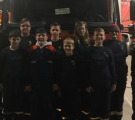 Jugendfeuerwehr Mennighüffen zu Besuch bei der Berufsfeuerwehr Bielefeld