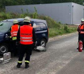 Dienstabend technische Hilfeleistung nach Verkehrsunfall