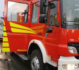 Spänebunker hält Feuerwehr Löhne in Atem.